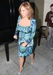Raquel Welch - Heads to Dinner in Tight Dress (6/23/14)